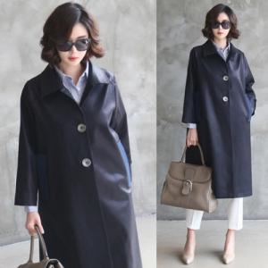 コート レディース ロング丈 ロングコート 2017 春夏 50代 40代 ファッション 女性 alice-style