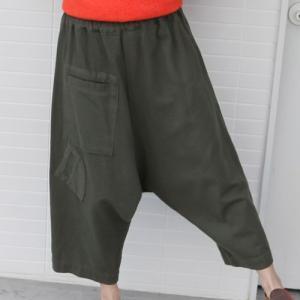 パンツ レディース 大人 40代 50代 60代 ファッション 女性 上品 カーキ 緑 カーキ 緑サルエルパンツ 冬 ミセス alice-style