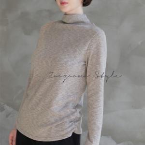トップス レディース Tシャツ 無地 長袖 秋冬 40代 50代 60代 ファッション 女性 上品 ミセス|alice-style