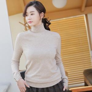 トップス レディース Tシャツ カシミア70% ウール30% タートルネック 無地 長袖 秋 40代 50代 60代 ファッション 女性 上品 ミセス|alice-style