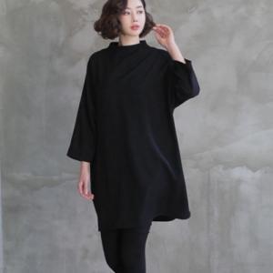 ブラウス レディース 40代 50代 60代 ファッション 女性 上品  黒無地 長袖 ゆったり 体形カバー 春 ミセス|alice-style
