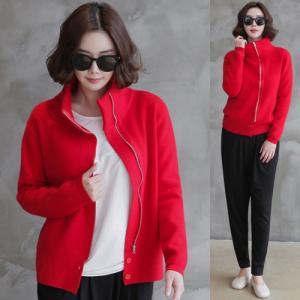 ジャケット レディース ハーフ丈 ジップアップ 2018 春 50代 40代 60代 ファッション 女性 黒 赤 ベージュ|alice-style