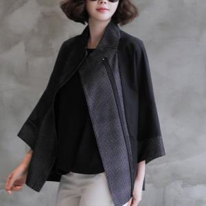 ジャケット レディース 大人 女性 上品 黒レディース 大人 ハーフ丈 春 50代 40代 60代 ファッション|alice-style