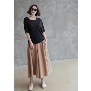 パンツ レディース ワイドパンツ 2018 春 50代 40代 60代 ファッション 女性 黒 ベージュ|alice-style|02
