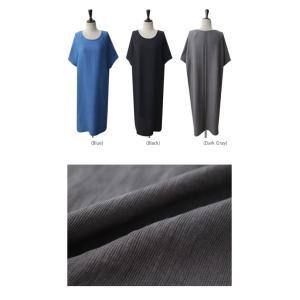 ワンピース レディース 無地 半袖 膝丈 きれいめ 通勤 50代 40代 60代 ファッション 女性 上品 ミセス 黒 グレー alice-style 02