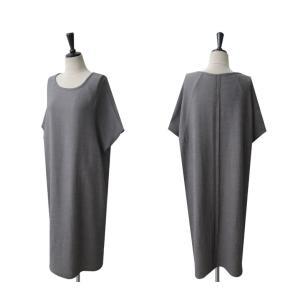 ワンピース レディース 無地 半袖 膝丈 きれいめ 通勤 50代 40代 60代 ファッション 女性 上品 ミセス 黒 グレー alice-style 12