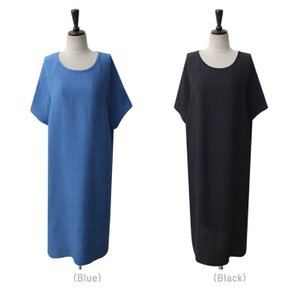 ワンピース レディース 無地 半袖 膝丈 きれいめ 通勤 50代 40代 60代 ファッション 女性 上品 ミセス 黒 グレー alice-style 16