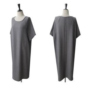 ワンピース レディース 無地 半袖 膝丈 きれいめ 通勤 50代 40代 60代 ファッション 女性 上品 ミセス 黒 グレー alice-style 18