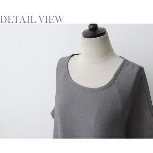 ワンピース レディース 無地 半袖 膝丈 きれいめ 通勤 50代 40代 60代 ファッション 女性 上品 ミセス 黒 グレー alice-style 19