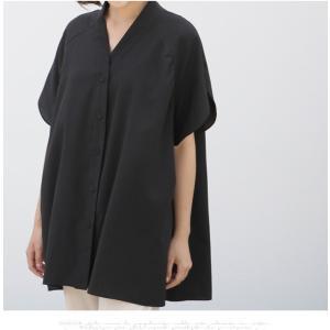 ブラウス レディース 40代 50代 60代 ファッション 女性 上品  黒  ベージュ Vネック 無地 半袖 きれいめ 春夏 ミセス alice-style 12