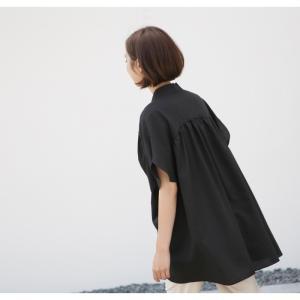 ブラウス レディース 40代 50代 60代 ファッション 女性 上品  黒  ベージュ Vネック 無地 半袖 きれいめ 春夏 ミセス alice-style 16