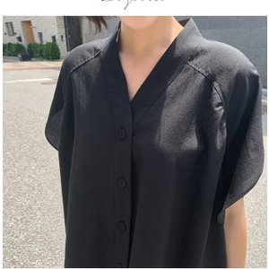 ブラウス レディース 40代 50代 60代 ファッション 女性 上品  黒  ベージュ Vネック 無地 半袖 きれいめ 春夏 ミセス alice-style 04