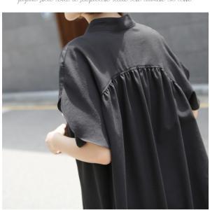 ブラウス レディース 40代 50代 60代 ファッション 女性 上品  黒  ベージュ Vネック 無地 半袖 きれいめ 春夏 ミセス alice-style 10