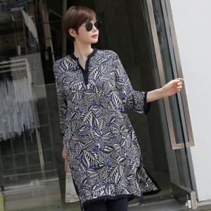 ブラウス レディース レディース チュニック 長袖 きれいめ 柄  春夏 40代 50代 60代 ファッション 女性 上品 ミセス|alice-style