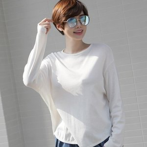 カットソー レディース 大人 無地 トップス Tシャツ 長袖 ゆったり 体形カバー 秋冬 40代 50代 60代 ファッション 女性 上品 ミセス 黒 赤|alice-style