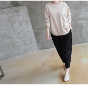 パンツ レディース 大人 ロングパンツ 2018 秋冬 冬 50代 40代 ファッション 女性 カーキ 緑|alice-style|11