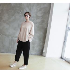 パンツ レディース 大人 ロングパンツ 2018 秋冬 冬 50代 40代 ファッション 女性 カーキ 緑|alice-style|12