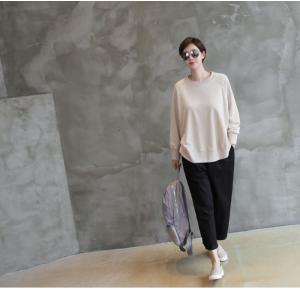 パンツ レディース 大人 ロングパンツ 2018 秋冬 冬 50代 40代 ファッション 女性 カーキ 緑|alice-style|13
