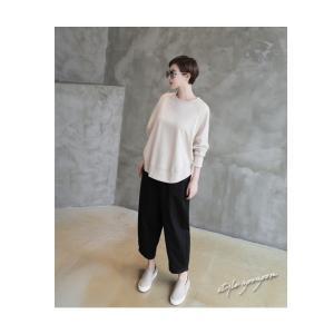 パンツ レディース 大人 ロングパンツ 2018 秋冬 冬 50代 40代 ファッション 女性 カーキ 緑|alice-style|14