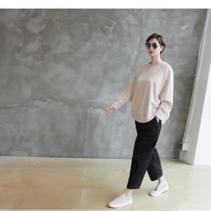 パンツ レディース 大人 ロングパンツ 2018 秋冬 冬 50代 40代 ファッション 女性 カーキ 緑|alice-style|15