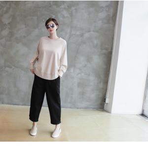 パンツ レディース 大人 ロングパンツ 2018 秋冬 冬 50代 40代 ファッション 女性 カーキ 緑|alice-style|16