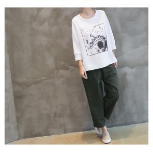 パンツ レディース 大人 ロングパンツ 2018 秋冬 冬 50代 40代 ファッション 女性 カーキ 緑|alice-style|19