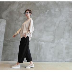 パンツ レディース 大人 ロングパンツ 2018 秋冬 冬 50代 40代 ファッション 女性 カーキ 緑|alice-style|07