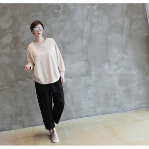 パンツ レディース 大人 ロングパンツ 2018 秋冬 冬 50代 40代 ファッション 女性 カーキ 緑|alice-style|09