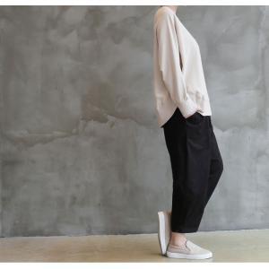 パンツ レディース 大人 ロングパンツ 2018 秋冬 冬 50代 40代 ファッション 女性 カーキ 緑|alice-style|10