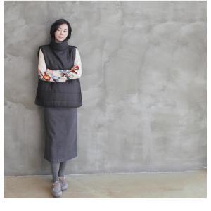 スカート レディース 大人 ロング丈 無地 2018 秋冬 冬 50代 40代 ファッション 女性 ベージュ グレー|alice-style|21