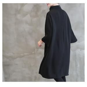 ワンピース レディース 40代 50代 60代 ファッション 女性 上品 ミセス 黒 春夏 大きいサイズ 体型カバー 高級感 きれいめ|alice-style|02