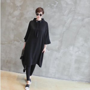ワンピース レディース 40代 50代 60代 ファッション 女性 上品 ミセス 黒 春夏 大きいサイズ 体型カバー 高級感 きれいめ|alice-style|12
