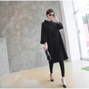 ワンピース レディース 40代 50代 60代 ファッション 女性 上品 ミセス 黒 春夏 大きいサイズ 体型カバー 高級感 きれいめ|alice-style|13