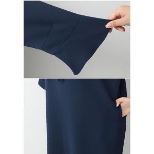 ワンピース レディース 40代 50代 60代 ファッション 女性 上品 ミセス 黒 春夏 大きいサイズ 体型カバー 高級感 きれいめ|alice-style|19
