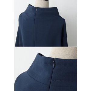 ワンピース レディース 40代 50代 60代 ファッション 女性 上品 ミセス 黒 春夏 大きいサイズ 体型カバー 高級感 きれいめ|alice-style|20