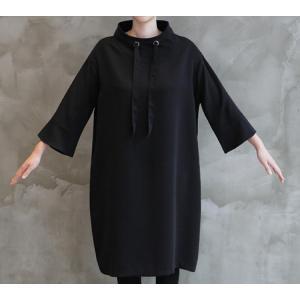 ワンピース レディース 40代 50代 60代 ファッション 女性 上品 ミセス 黒 春夏 大きいサイズ 体型カバー 高級感 きれいめ|alice-style|05