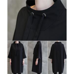 ワンピース レディース 40代 50代 60代 ファッション 女性 上品 ミセス 黒 春夏 大きいサイズ 体型カバー 高級感 きれいめ|alice-style|06