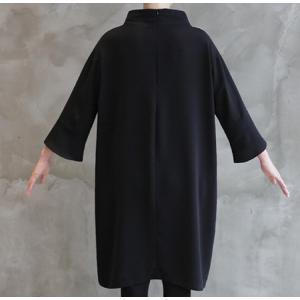 ワンピース レディース 40代 50代 60代 ファッション 女性 上品 ミセス 黒 春夏 大きいサイズ 体型カバー 高級感 きれいめ|alice-style|07