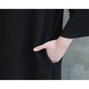ワンピース レディース 40代 50代 60代 ファッション 女性 上品 ミセス 黒 春夏 大きいサイズ 体型カバー 高級感 きれいめ|alice-style|09