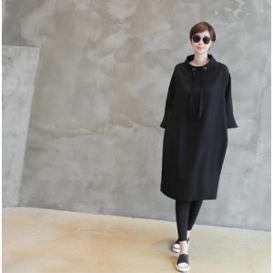 ワンピース レディース 40代 50代 60代 ファッション 女性 上品 ミセス 黒 春夏 大きいサイズ 体型カバー 高級感 きれいめ|alice-style|10