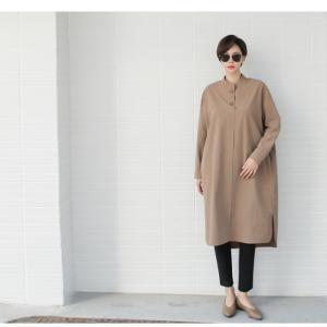 ワンピース 上品 レディース 大人 秋冬 40代 50代 60代 ファッション 女性 ミセス 黒 ベージュ カーキ 緑|alice-style|14