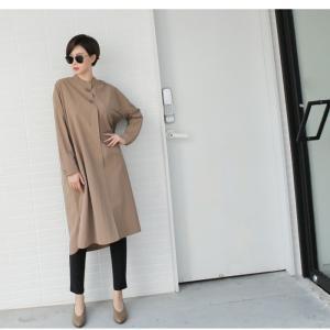 ワンピース 上品 レディース 大人 秋冬 40代 50代 60代 ファッション 女性 ミセス 黒 ベージュ カーキ 緑|alice-style|19
