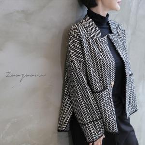 ジャケット レディース 大人 ウール ハーフ丈 2018 秋冬 冬 50代 40代 ファッション 女性 黒|alice-style