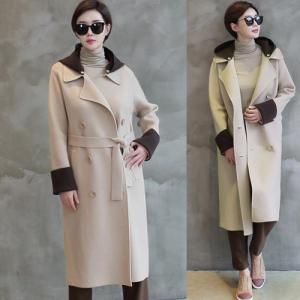 コート レディース 大人 ロングコート カシミア 2018 秋冬 冬 50代 40代 ファッション 女性 黒 ベージュ|alice-style