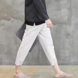 パンツ レディース 40代 50代 60代 ファッション おしゃれ 女性 上品 黒 ベージュ 裾絞り半バギーパンツ 後ゴム 無地 冬 ミセス|alice-style