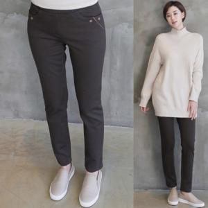 パンツ 2018 秋冬 冬 50代 40代 ファッション 女性 黒 茶色 グレー alice-style