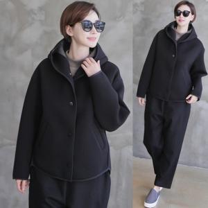 ジャケット レディース 大人 ハーフ丈 ゆったり 2018 秋冬 冬 50代 40代 ファッション 女性 黒|alice-style