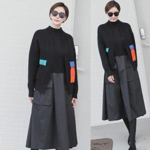 ニットカーディガン レディース 大人 ハーフ丈 2018 秋冬 冬 50代 40代 ファッション 女性 黒|alice-style