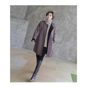 ジャケット レディース 大人 ハーフ丈 2018 秋冬 冬 50代 40代 ファッション 女性 黒|alice-style|13