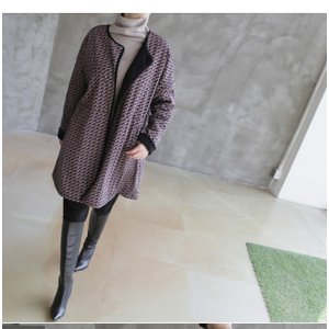 ジャケット レディース 大人 ハーフ丈 2018 秋冬 冬 50代 40代 ファッション 女性 黒|alice-style|17